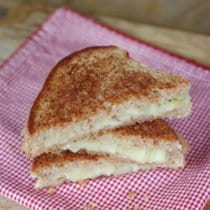 Grilled Brie and Shortcut Apple Chutney Sandwich