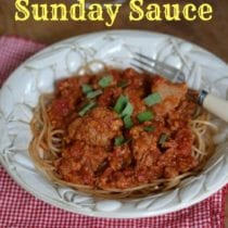 Slow Cooker Sunday Sauce (that will feed a crowd!)