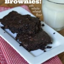 5 Minute Fudge Brownies from 100 Days of #RealFood