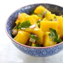 mango salsa on 100 days of real food