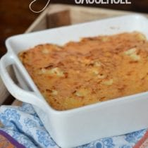 Cheesy Mashed Potato Casserole on 100 Days of #RealFood