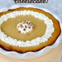 Pumpkin Cheesecake on 100 Days of #RealFood