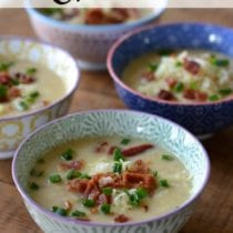 Potato and Cauliflower Chowder on 100 Days of #RealFood