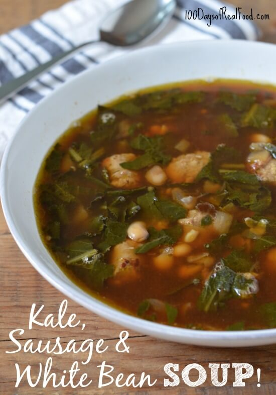 Easy Kale, Sausage and White Bean Soup
