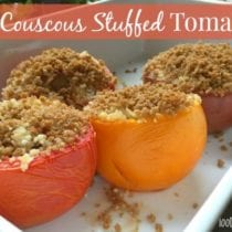 Easy Couscous Stuffed Tomatoes on 100 Days of #RealFood