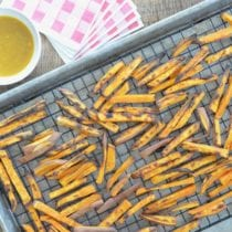 Baked Sweet Potato Fries on 100 Days of Real Food