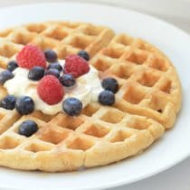 The Best Belgian Waffles on 100 Days of Real Food