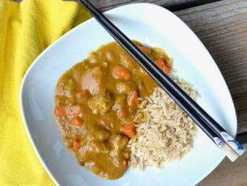 Homemade Japanese Curry on 100 Days of Real Food