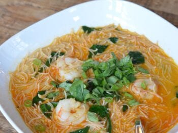 Easy Curry Noodle Soup on 100 Days of Real Food