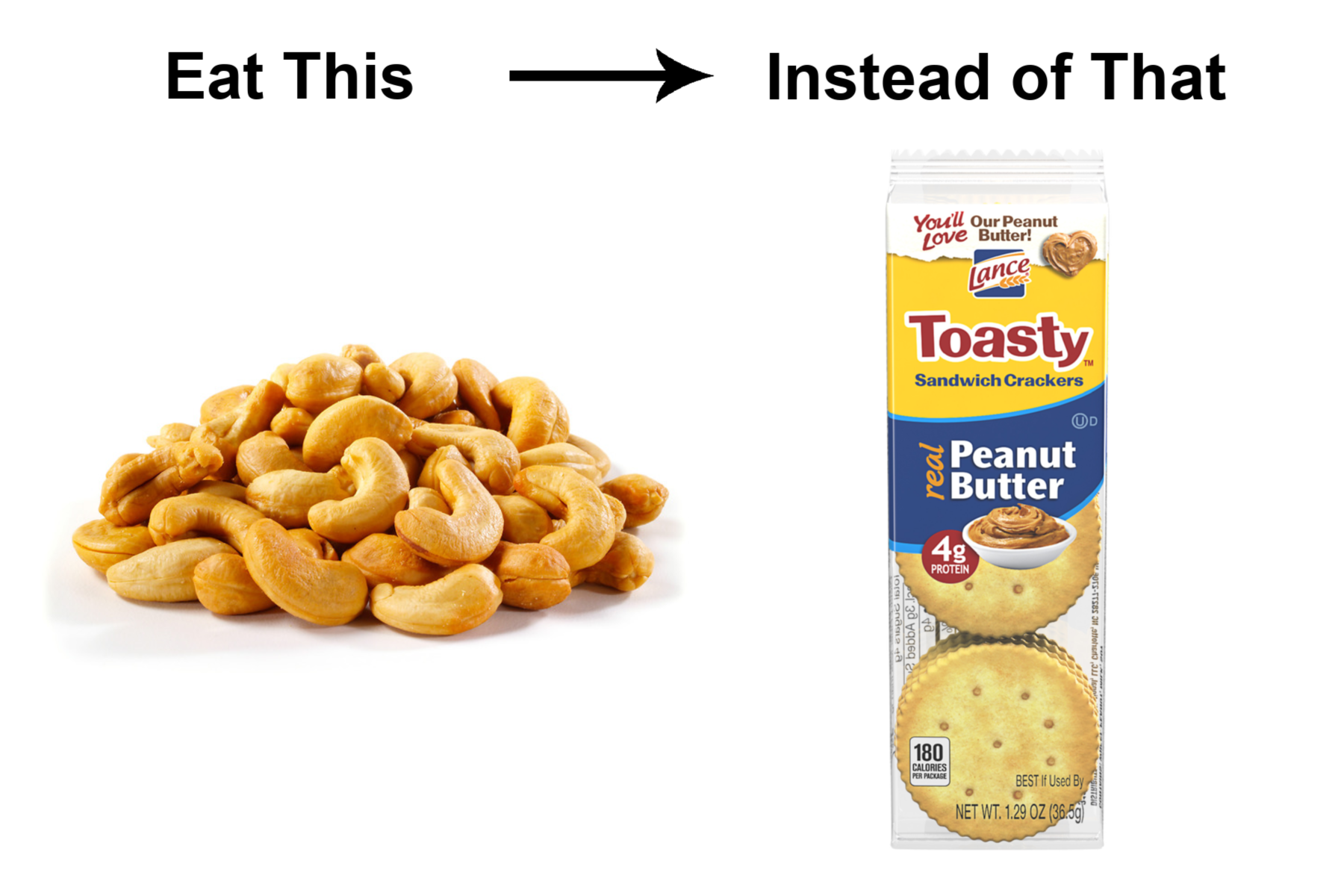 Roasted Nuts instead of Peanut Butter Cracker Packs