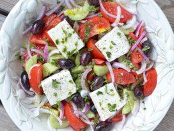 Traditional Greek Salad on 100 Days of Real Food