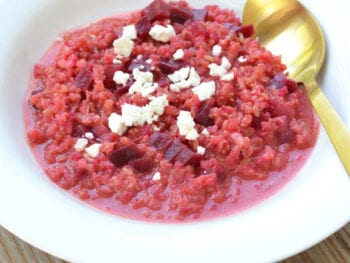 Beet and Goat Cheese Brown Rice Risotto