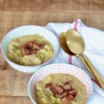 Sausage and Potato Soup with Broccoli on 100 Days of Real Food