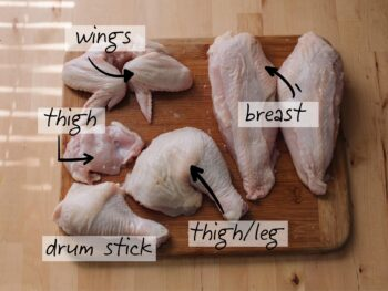 Chicken parts on 100 Days of Real Food